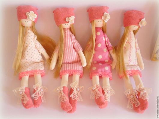 Человечки ручной работы. Ярмарка Мастеров - ручная работа. Купить Куколки. Handmade. Кремовый, кукла текстильная, подарок девушке, трикотаж