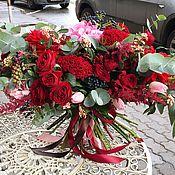 """Букет цветов """"Рубиновый"""""""