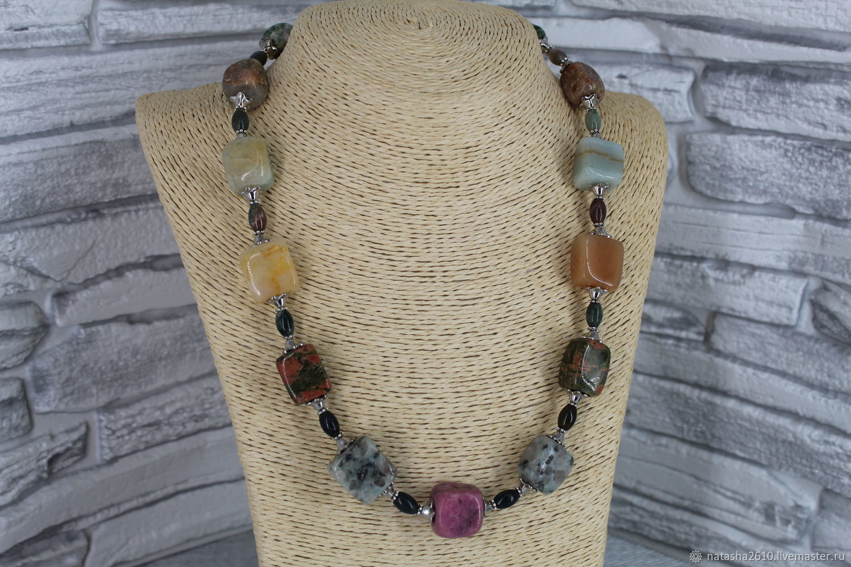 Necklace made of natural stones ' Samotsvety', Necklace, Velikiy Novgorod,  Фото №1