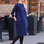Одежда handmade. Livemaster - original item EGGDRESS JERSEY NEVY dress. Handmade.