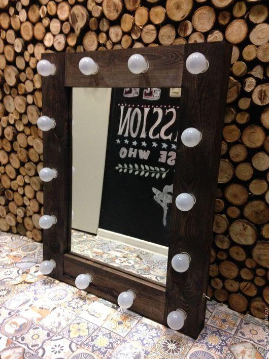 Зеркала ручной работы. Ярмарка Мастеров - ручная работа. Купить Зеркало для макияжа. Handmade. Разноцветный, зеркало ручой работы, лампы