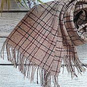 Аксессуары handmade. Livemaster - original item Tweed scarf in a cage. Handmade.