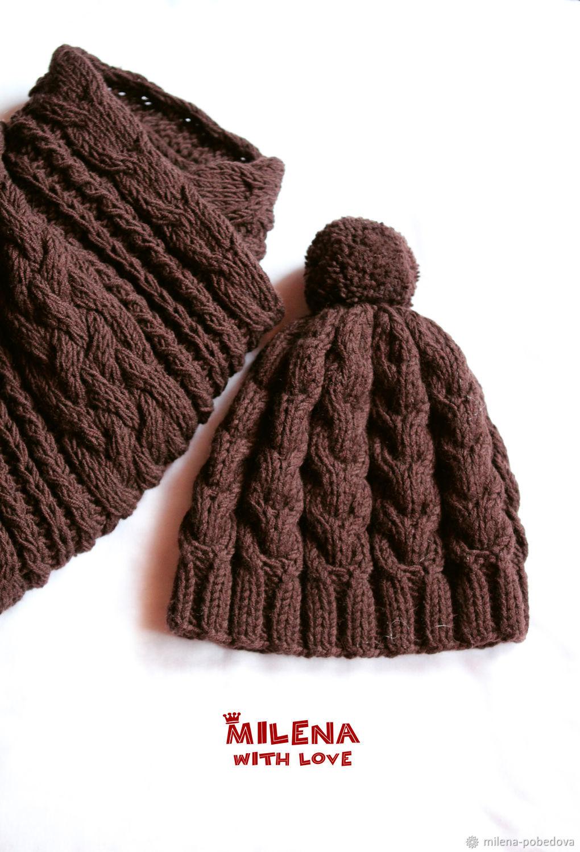 ec0f4da92e Hats and scarves handmade. Livemaster - handmade. Buy Set for boy