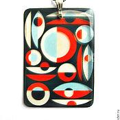 Украшения handmade. Livemaster - original item transparent pendant geometry jewelry resin. Handmade.