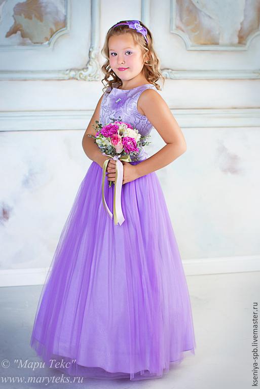Купить пышное длинное платье на девочку