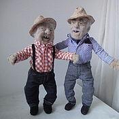 Куклы и игрушки handmade. Livemaster - original item Interior doll is made of wool. Grandpa number №1. Handmade.