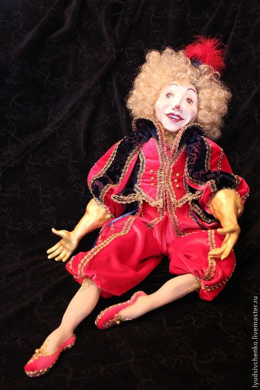 Коллекционные куклы ручной работы. Ярмарка Мастеров - ручная работа. Купить Лелюш. Handmade. Ярко-красный, текстиль