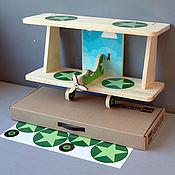 """Для дома и интерьера ручной работы. Ярмарка Мастеров - ручная работа Полка для книг  """"Самолёт"""" (набор для сборки с наклейками) 60см. Handmade."""