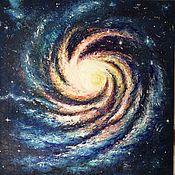 Картины и панно handmade. Livemaster - original item Spiral Universe, the oil 70h70. Handmade.