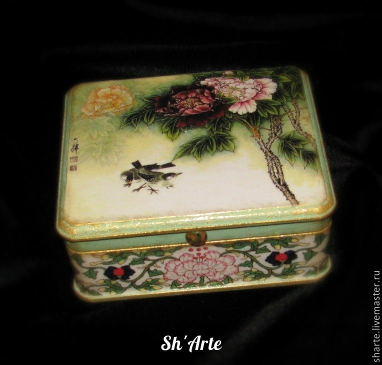 Box in Chinese style Peony-2, Box, Moscow,  Фото №1
