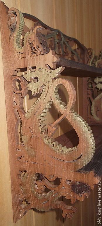 """Мебель ручной работы. Ярмарка Мастеров - ручная работа. Купить Полка """"Драконы"""". Handmade. Дерево, на новоселье, подарок на новоселье"""