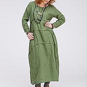 Одежда ручной работы. Ярмарка Мастеров - ручная работа Льняное бохо платье 4-22. Handmade.