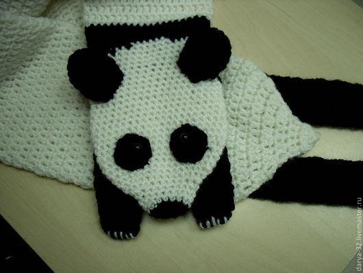 """Для подростков, ручной работы. Ярмарка Мастеров - ручная работа. Купить Шарф  """"Панда"""". Handmade. Шарф, заказать, шарф-панда"""