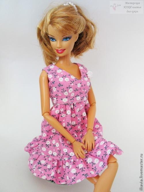 """Платье """"Ветка Сирени"""" Легкое платье с завышенной талией и юбкой колокольчик. Платье украшено цветочком на груди ручной работы или поясом с цветами и веночком с цветами.\r\nВсе швы обработаны"""