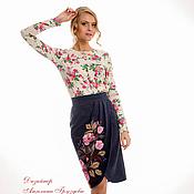 """Одежда ручной работы. Ярмарка Мастеров - ручная работа """"Цветение Роз"""" юбка женская. Handmade."""