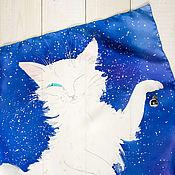 Аксессуары ручной работы. Ярмарка Мастеров - ручная работа Снежный кот. Handmade.