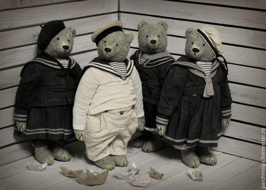 Мишки Тедди ручной работы. Ярмарка Мастеров - ручная работа. Купить Старая фотография. Handmade. Серый, тедди мишка