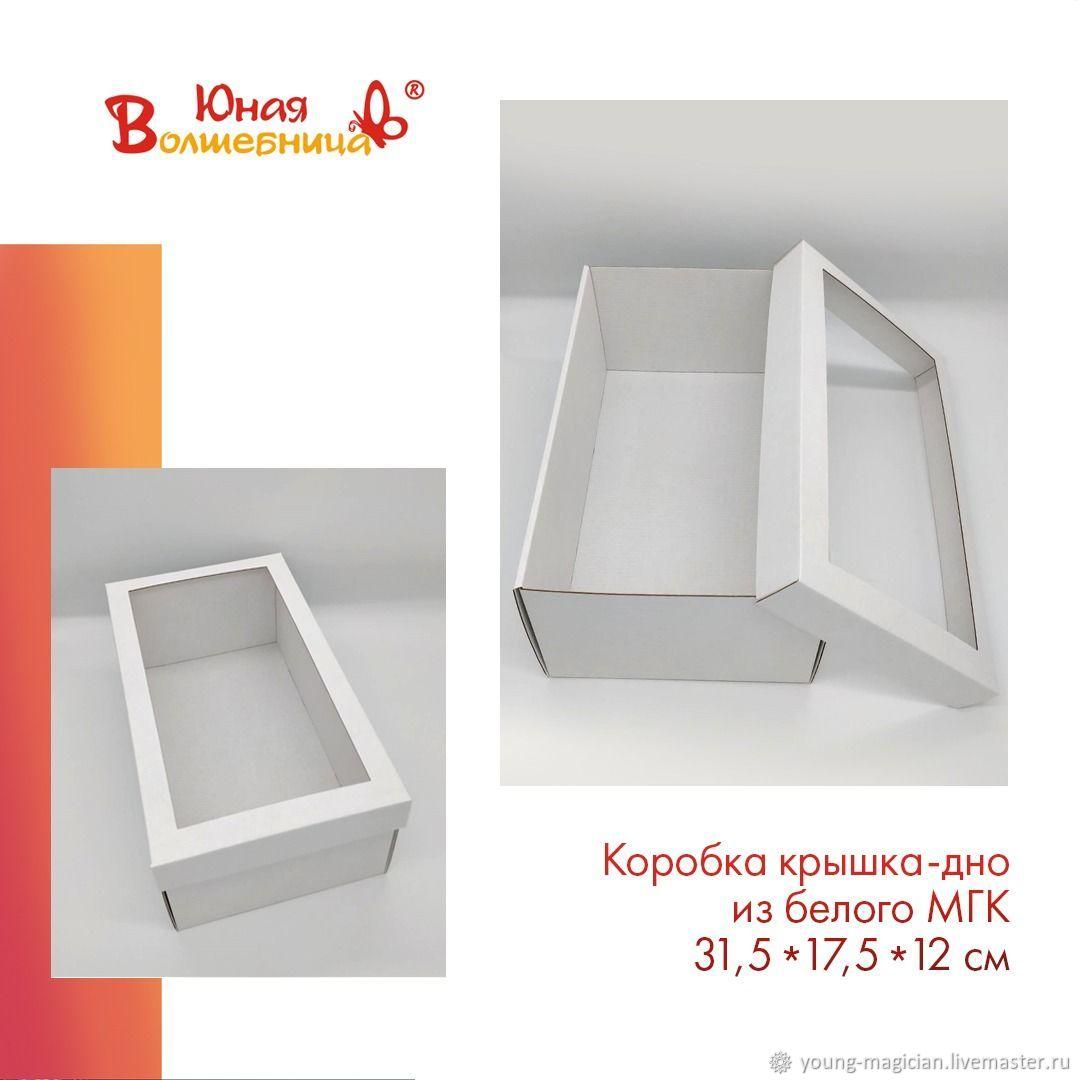 Коробка 31,5х17,5х12 см из МГК с окном - упаковка для кукол, Упаковка, Мытищи,  Фото №1