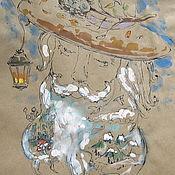 """Картины и панно ручной работы. Ярмарка Мастеров - ручная работа Графика """"Лесной сказочник"""" лист А4. Handmade."""