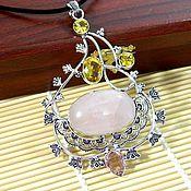 Украшения handmade. Livemaster - original item Pendant Rose quartz natural.. Handmade.