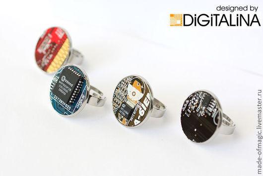 Кольца ручной работы. Ярмарка Мастеров - ручная работа. Купить Digital Rings - цифровые кольца. Handmade. Кольцо, перстень