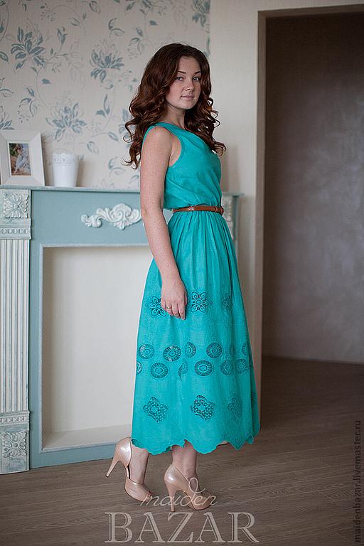 Бирюзовое платье, Платья, Электросталь,  Фото №1