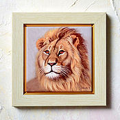 Картины и панно handmade. Livemaster - original item Lion picture - Picture Lion - artist print. Handmade.