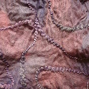 Аксессуары manualidades. Livemaster - hecho a mano scarf tippet felted Evening the Kingdom of Evening clouds. Handmade.