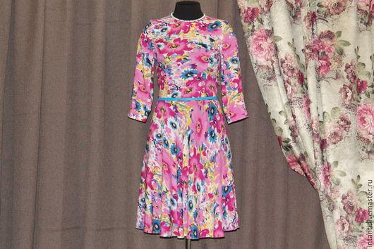 Платья ручной работы. Ярмарка Мастеров - ручная работа. Купить Платье. Handmade. Одежда, стильные вещи, творческая мастерская, хлопок