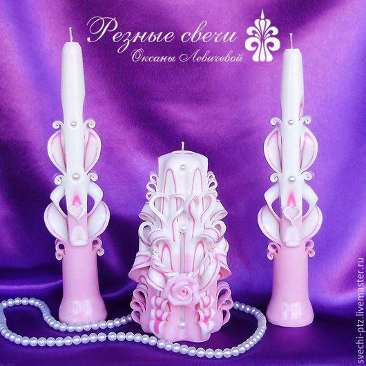 Свадебные аксессуары ручной работы. Ярмарка Мастеров - ручная работа. Купить Свадебные резные свечи - Семейный очаг. Handmade.