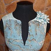 """Одежда ручной работы. Ярмарка Мастеров - ручная работа Жилет нуно-войлочный """"Цветущий миндаль"""". Handmade."""