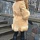 Верхняя одежда ручной работы. Заказать Пальто-куртка зимнее замшевое с отделкой мехом лисы и капюшоном. Ирина (dneproart). Ярмарка Мастеров.