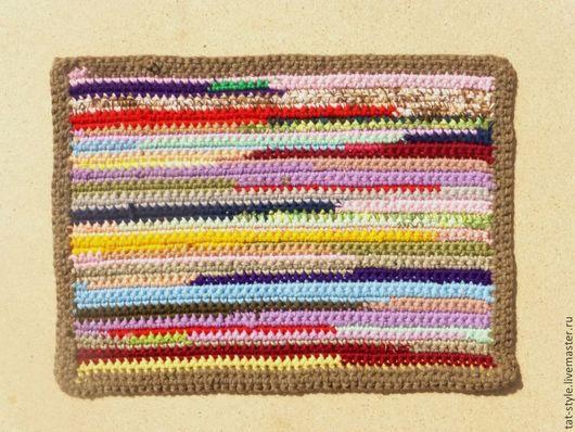 Текстиль, ковры ручной работы. Ярмарка Мастеров - ручная работа. Купить Коврик-половичок вязаный Всё без остатка. Handmade.