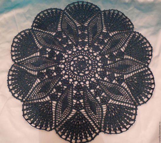 Текстиль, ковры ручной работы. Ярмарка Мастеров - ручная работа. Купить Салфетка большая. Handmade. Черный, салфетки, Салфетка вязаная