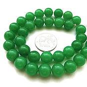 Материалы для творчества ручной работы. Ярмарка Мастеров - ручная работа Халцедон 35 камней набор зеленый бусины шар 10 мм гладкий. Handmade.