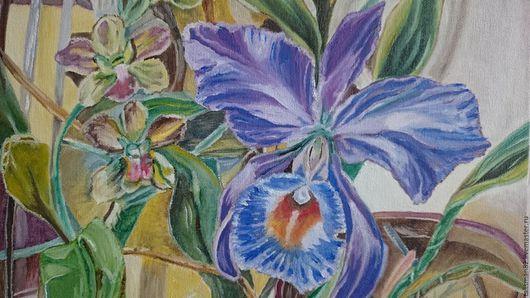 """Картины цветов ручной работы. Ярмарка Мастеров - ручная работа. Купить Картина маслом  """"Орхидея"""". картина цветы картина орхидея цветы картина. Handmade."""