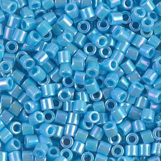 Для украшений ручной работы. Ярмарка Мастеров - ручная работа. Купить Бисер delica 8/0 164 Opaque Light Blue AB 5 (!) гр.. Handmade.