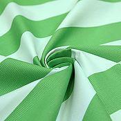 Материалы для творчества ручной работы. Ярмарка Мастеров - ручная работа Хлопковый репс в бело-зеленую полоску D&G. Handmade.