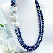 Украшения handmade. Livemaster - original item Necklace made of natural Topaz ,kyanite, Baroque pearls. Handmade.