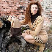Одежда ручной работы. Ярмарка Мастеров - ручная работа Платье + шарф с защипами. Handmade.