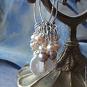 Украшения handmade. Livemaster - original item Earrings with pearls Romance. Handmade.