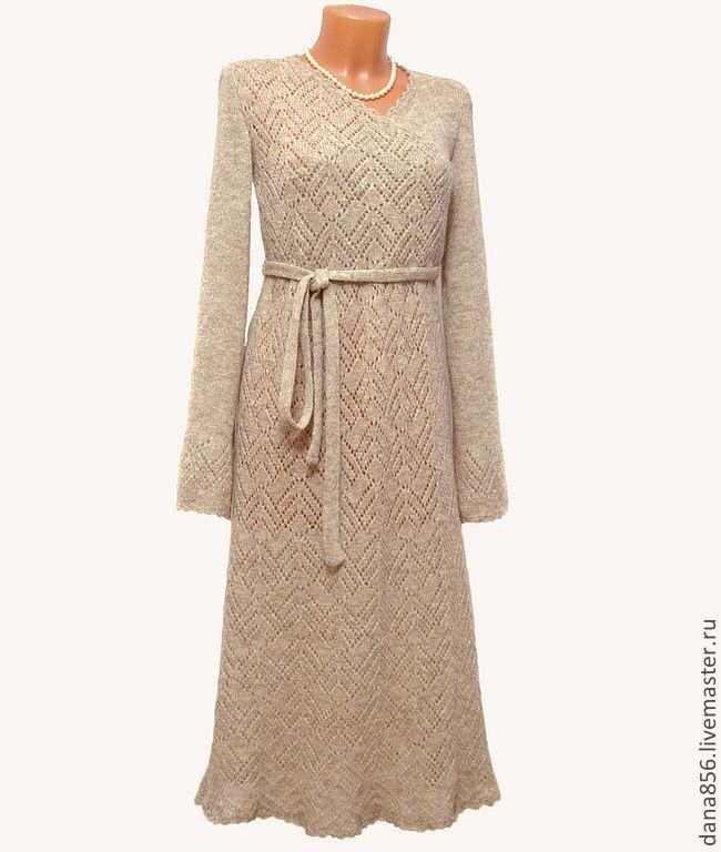 """Платья ручной работы. Ярмарка Мастеров - ручная работа. Купить Платье """"Alesia"""". Handmade. Бежевый, платье вязаное, абстрактный"""
