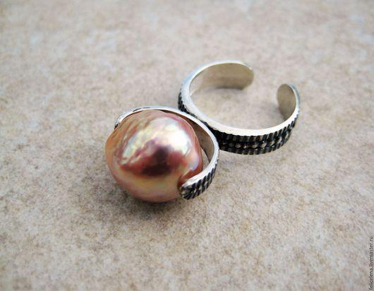 Кольца ручной работы. Ярмарка Мастеров - ручная работа. Купить Кольцо Romance серебро жемчуг касуми. Handmade.