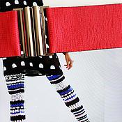 Аксессуары ручной работы. Ярмарка Мастеров - ручная работа пояс ярко-красный матовый широкий красный эластичный. Handmade.