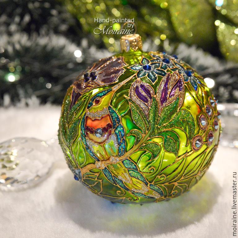 Елочные игрушки шары стеклянные