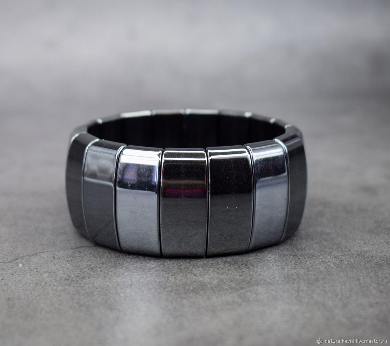 Men's / women's bracelet natural gemstone hematite, Bead bracelet, Moscow,  Фото №1