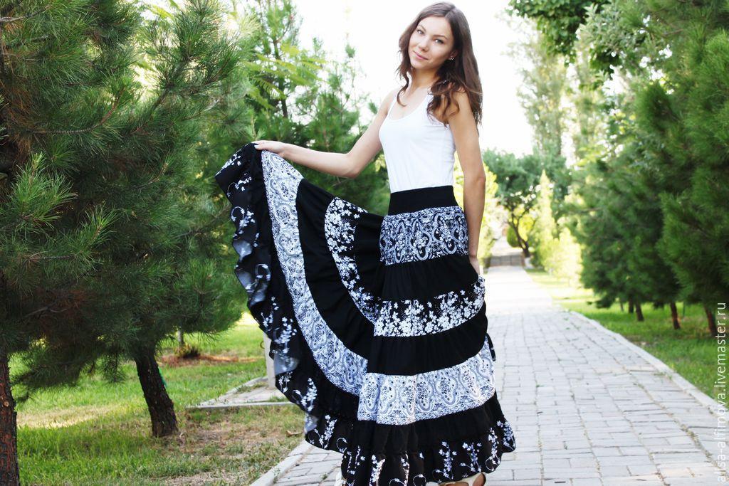 STRAUKASA ELEGANT, FLOOR-LENGTH SKIRT, TIERED: ' DATA', Skirts, Tashkent,  Фото №1