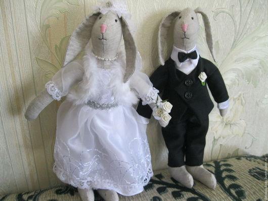 Подарки на свадьбу ручной работы. Ярмарка Мастеров - ручная работа. Купить Свадебные кролики. Handmade. Свадьба, подарок на свадьбу, хлопок