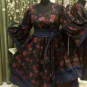 Одежда ручной работы. Ярмарка Мастеров - ручная работа Большие размеры. Платье в стиле бохо.. Handmade.