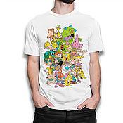 """Одежда handmade. Livemaster - original item Футболка хлопковая """"Любимые мультики Nickelodeon"""". Handmade."""